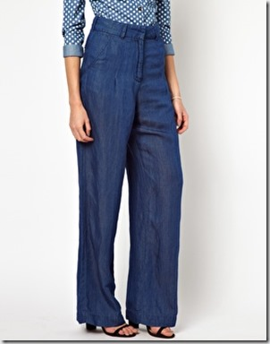 Hourglass wide trousers asos
