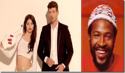 Marvin Gaye and Robin Thicke