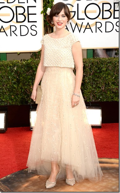 Zoey Deschanel Golden Globes 2014