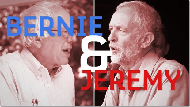 To the left bernie & Jeremy